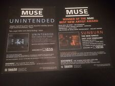MUSE SUNBURN + UNINTENDED BOX SET PROMO CARDS **EXCELLENT CONDITION** RARE **