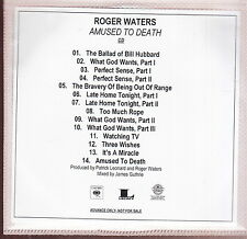 roger waters amused to death cd & blu-ray audio plus press info  limited edition