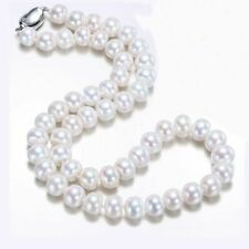 White Round Natural Freshwater Pearls Necklace Luxury Women Gift Fashion Jewelry