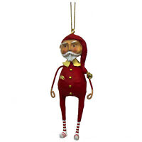 "4"" Lori Mitchell Sleepytime Santa Claus Retro Christmas Figurine Holiday Decor"