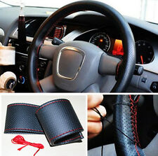 Universal  PU Leather DIY Car Steering Wheel Cover With Needles and Thread Style