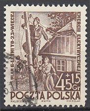 Polen gestempelt Telefonmast Telefon Trechnik Kommunikation Haus Leitung / 85