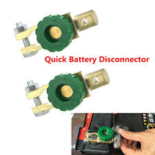 Auto 2pcs Battery Link Terminal Quick Cut-off Disconnect Master Kill Shut Switch
