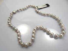 Echte Perlen-Halsketten & -Anhänger im Collier-Stil aus Weißgold mit Akoya