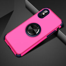For iPhone 11 Pro Max 11 Pro Magnetic Hybrid Rubber Ring Holder Stand Case Cover