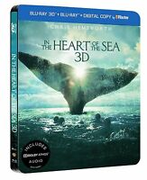 In the Heart of the Sea 3D+2D Limited Edition Steelbook Blu Ray