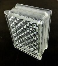 Reclaimed Architectural Glass Building Block #2 - Beautiful Diamond Pattern!
