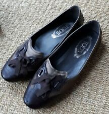 Ladies *TODS* Italian Brown Flat Shoes-Size 5/38 Vgc