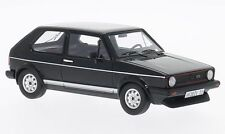 Neo Scale Model 1:43 45555 Volkswagen Golf GTI 1981 Black NEW