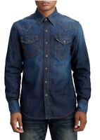 True Religion - Mens Western Style Denim Shirt