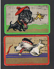 Swap Playing Cards 2 VINT ENG NMD COMICAL SCOTTIE'S  SCOTTY DOGS  PAIR  ENN14