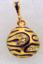 Silver Russian Handmade Faberge Egg Pendant #PD-011-103
