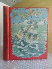 Cartonnage.En Bouteille a Travers l'Atlantique.Ernest D'HERVILLY. Z001