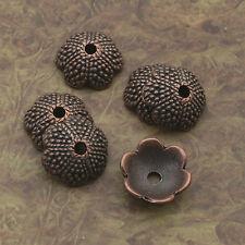 16pcs antiqued copper flower  bead cap findings X0028