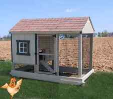 CHICKEN COOP AMISH PA DUTCH BUILT CUSTOM PEN POULTRY FARM SHED HEN W/ NEST HOUSE