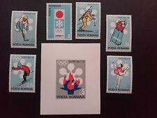 1971 -Romania -Sport -Winter Olympics-Sapporo, Mi.2984-2989 + Bk.91  MNH