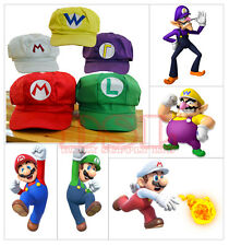 Rosso Super Mario Bro ANIME OTTAGONALE Hat Cap ✔ Cosplay Costume Party ✔ ✔ UK STOCK