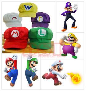 White Super Mario Bro Anime Octagonal Hat Cap✔Cosplay Party✔Fancy Dress✔UK Stock