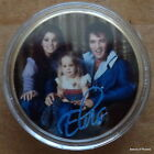 ELVIS PRESLEY THE KING OF ROCK N ROLL & his family 24K GOLD PLATED COIN