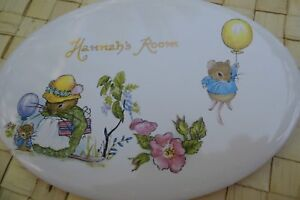 "Ceramic Tile Door Plate Name ""Hannah's Room"""