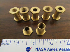 6 Sets Brass Sleeves Inner & Outer Threaded Screw Into Each Other