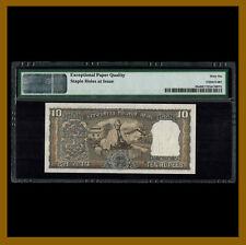 India 10 Rupees, 1969 P-69a Ghandi Sig# 76 PMG 66 EPQ Commemorative Unc