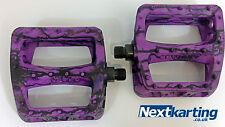 ODYSSEY BMX PC TIE DYE PURPLE / BLACK / TWISTED PLASTIC  PEDALS - BMX BIKE -