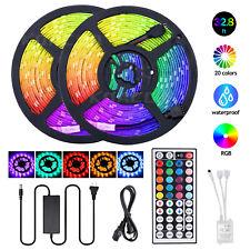 32.8FT Waterproof Led Strip Light 5050RGB Tape Light Color Changing 44Key Remote