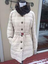 NEW ARMANI $635 L,US12,E48 Women's Beige/ Black REVERSIBLE WINTER/SPRING Coat