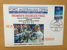 Australian Open Tennis Women's Doubles Final Stubbs Raymond 2000 souvenir cover