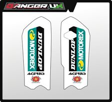 KTM 85 SX 2012 2013 2014 2015 2016 2017 LOWER FORK GUARD GRAPHICS  WHITE