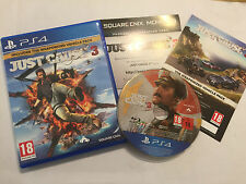 PLAYSTATION 4 PS4 Jeu Just Cause 3 III complet disque Excellent véhicule Pack Edi