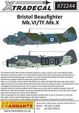 XTRADECAL 1/72 Bristol Beaufighter mk.vi / tf.mk.x DITALE Nose #72244