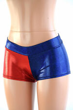 LARGE Red & Blue Harlequin Villain Cosplay Low Rise Shorts Ready To Ship!