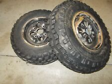 1986 Honda TRX250 Utility OEM Front Wheels Rims Mismatched Bad Tires 21X7-10