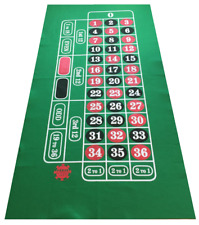 GIANT GREEN ROULETTE FELT BAIZE CLOTH LAYOUT LARGE PLAYING AREA -VALUE FOR MONEY