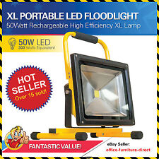 LED Floodlight Rechargable, Portable, Lamp 50 Watt Extra Large UltraBright Light