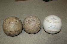 Lot of 3 16 inch softballs vintage Official League zig-zag stitch