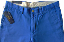 Men's POLO RALPH LAUREN Spectrum Blue Twill Chino Pants 40x30 NWT Classic Fit