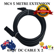 5M Pair 6mm2 50A Mc4 Extension Cable from PV Solar Panel to regulator