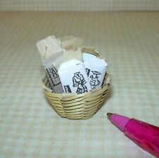 "Miniature ""Shadow Box"" Basket of Victorian Patterns #1:  DOLLHOUSE 1/12"