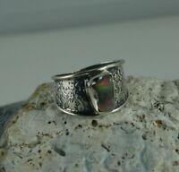 Opal Ring 925 Sterling Silber  Größe 62  Opal aus Äthiopien  roher Opal