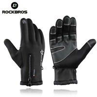 RockBros Men Winter Gloves Cycling Fleece Thermal Windproof Full Finger Gloves