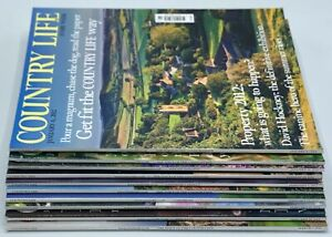 Job Lot of Country Life Magazine x 10 Issues January February March 2012