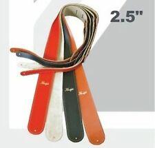 "Klondyke 4280 Deluxe en cuir noir 2.5 "" guitare ou basse sangle - COUSU MAIN"