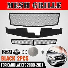 Black Mesh Grille Combo Insert for 08-13 Cadillac CTS Stainless Steel Grill