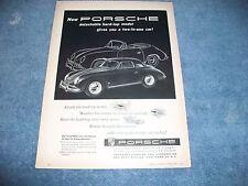"1958 Porsche Speedster 356A Vintage Ad ""Detachable Hard-Top Model..."""