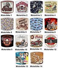 Pantallas de Lámpara para Combinar Vintage Retro Motocicletas Cojines Adhesivos