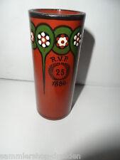 22017 Vase Keramik  Bachman Jugendstil 25 R V P 1886 signiert 11 cm Art Nouveau