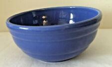 """Vintage York Pennsylvana blue pottery 6 1/2"""" mixing bowl, # 6"""